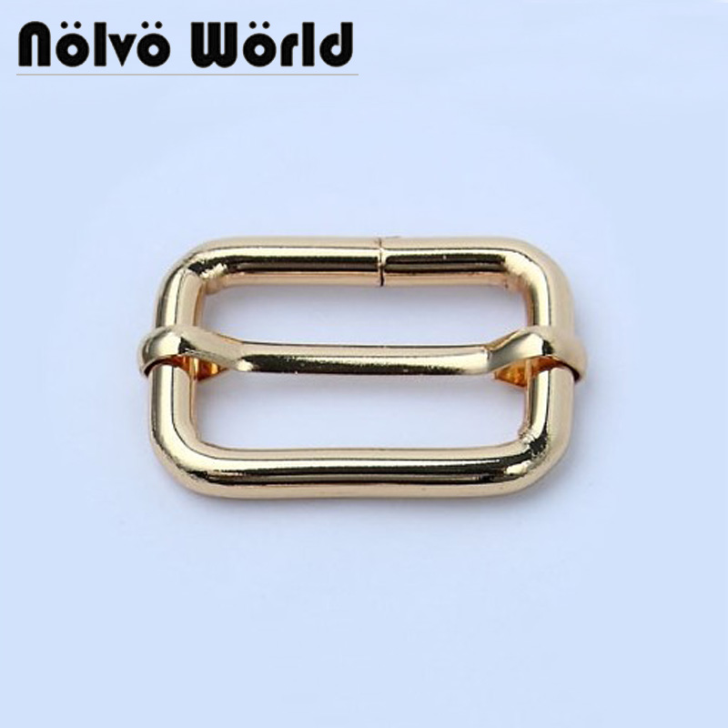 20pcs 5 Colors Full Size 20mm 25mm 32mm 38mm 50mm Slider Buckle,purse Shoulder Strap Adjust Buckles