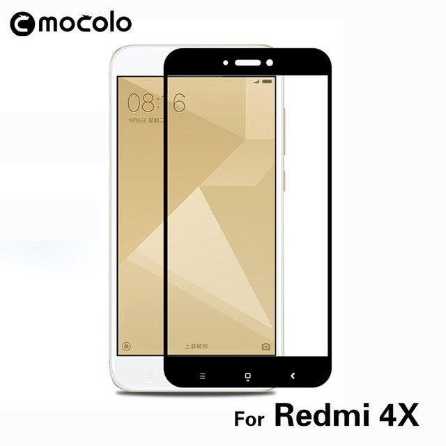 cheap for discount 584a4 4e02a US $6.0 9% OFF|Original Mocolo Tempered Glass Full Cover Screen Protector  2.5D Protective Film for Xiaomi Redmi 4X High Quality Redmi 4X Glass-in ...