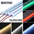 10pcs cuttable 50CM DC12V 36 SMD 5630 LED Rigid Strip cabinet Showcase LED Bar Lights Aluminium shell +pc cover Bar Light