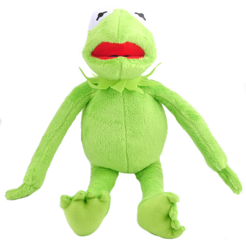 Free Shipping Hot Sale 14'' 40cm Kermit Plush Toys Sesame Street Doll Stuffed Animal Kermit Toy Plush Frog Doll Holiday Gift couple frog plush toy frog prince doll toy doll wedding gift ideas children stuffed toy