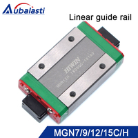 linear guide rail mgn9 mgn12 mgn12h mgn15 linear rail linear bearing use for engraving and cutting machine