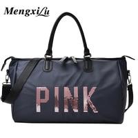 2017 Ladies Travel Bag Large Capacity Hand Luggage Travel Duffle Bags Sequins Portable Female Handbag Weekend