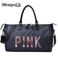 2018 Ladies Travel Bag Large Capacity Hand Luggage Travel Duffle Bags Sequins Portable Female Handbag Weekend Waterproof Wash