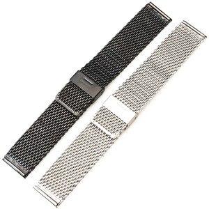 Image 5 - Toptan 10 adet/grup 18 MM, 20 MM, 22 MM 24 MM Paslanmaz Çelik saat kayışı saat kayışı Bilezik Askısı gümüş ve siyah WBS0099