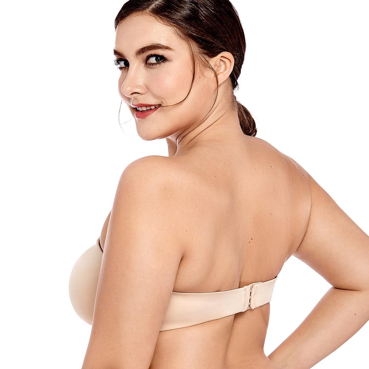 Women's Smooth Seamless Invisible Underwire Strapless Minimizer Bra