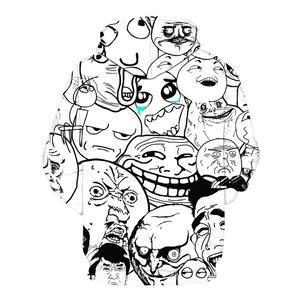 Image 2 - Мужская толстовка с капюшоном Meme Face, Повседневная Толстовка с 3D принтом, верхняя одежда, спортивный костюм, 2019