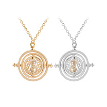 Fashion Alloy Plated Necklace Hermione Granger Rotating Time Turner Necklace 2 Colors Options Wholesale 24pcs/lot