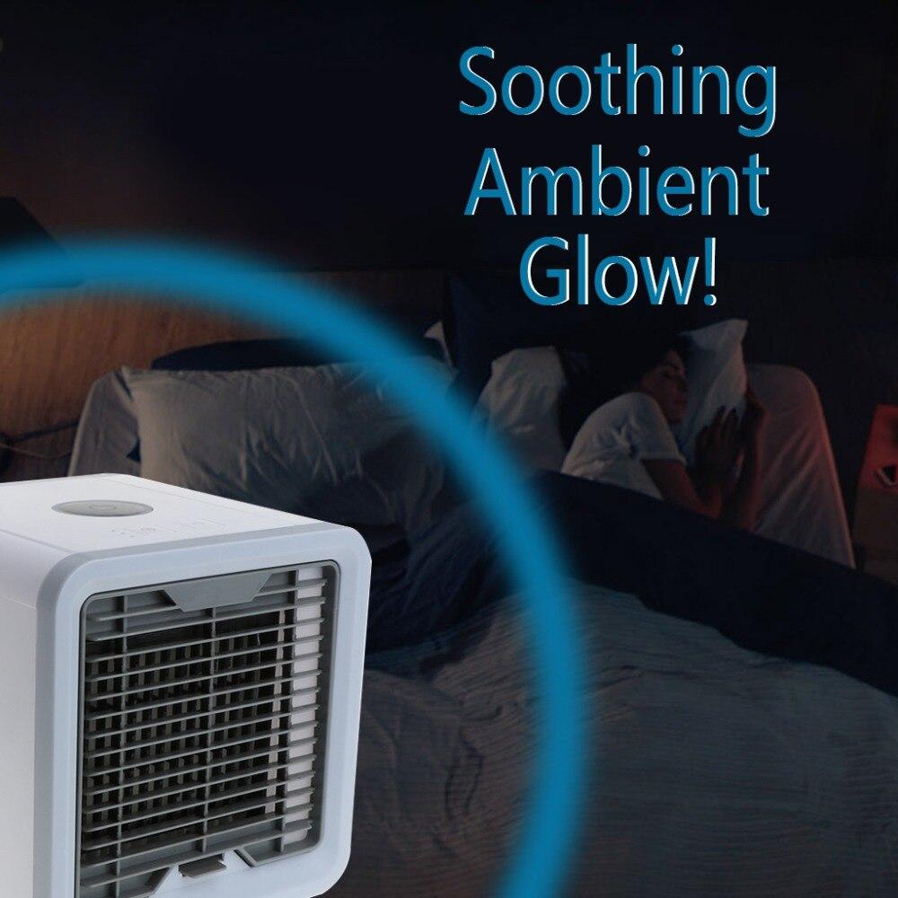 Экологичные энергосберегающие мини кондиционер Cooler электрический вентилятор, увлажнитель с светодиодный свет Офис Новый
