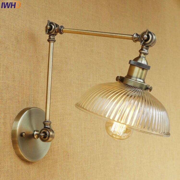 IWHD Vidro Preto Vintage Edison Luz De