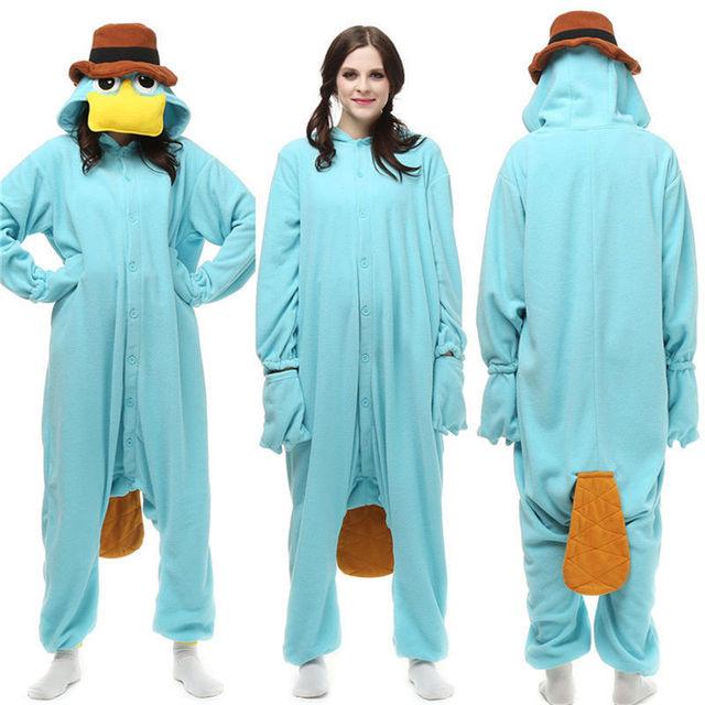 f9eedd623b Onesies adultos kig pijamas animales Cosplay disfraces ropa de dormir  platypus S-XL Perry el