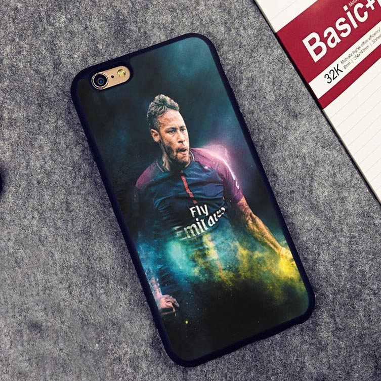 Coque Neymar JR Football Soccer Soft Silicone Full Protective case Cover For iPhone X 8 7 7Plus 6 6S Plus 5 5S SE