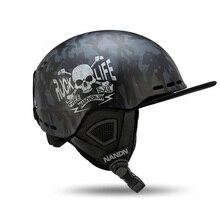 Nandn лыжные взрослые шлемы PC+ EPS сверхлегкие высококачественные шлемы для сноуборда мужские и женские шлемы для катания на коньках скейтборд Лыжный Спорт Дышащие шлемы