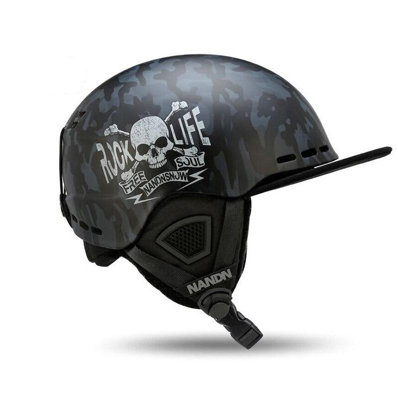 Nandn esqui adulto capacetes pc + eps ultraleve alta qualidade snowboard capacetes das mulheres dos homens de patinação skate capacetes respirável