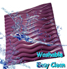 Phiihp Anti-bacterial vinyl coated washable lounger pillow soft foam outdoor garden NBR waterproof back support cushion