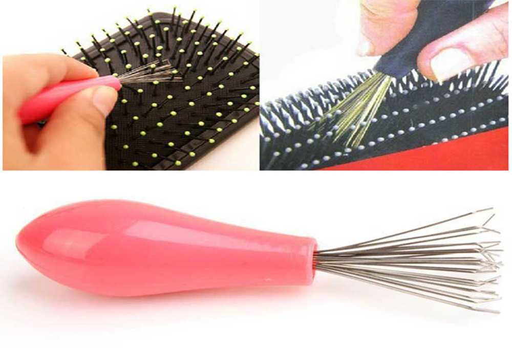 Comb Hair Brush Cleaner Cleaning Remover Embedded Beauty Tools Plastic Handle Free Shipping ma H0059