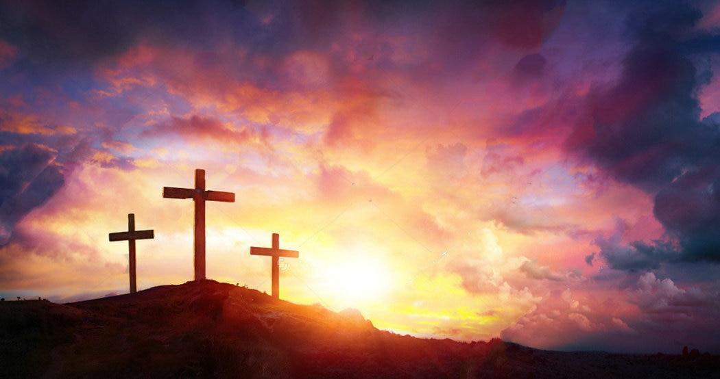 Crucifixion Jesus Christ Sunrise Crosses Hill Photo