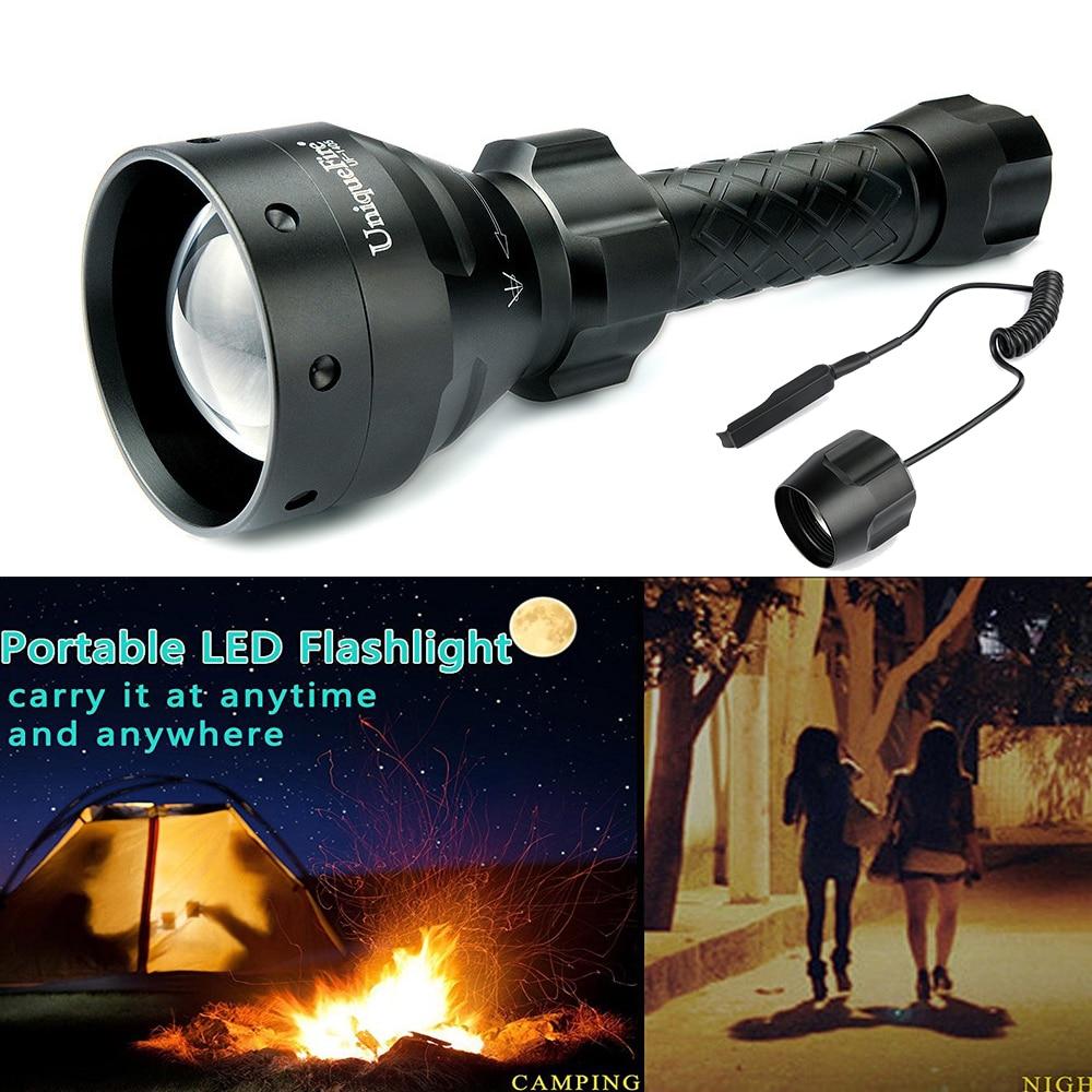 ФОТО Uniquefire Remote Control Flashlight 1405 Cree T6 Super Bright Outdoor Flashlight Torch+Remote Pressure For Remote Control