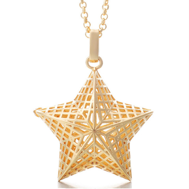 Pentagram star Pregnancy long necklace wish box Mexican Bola Harmony