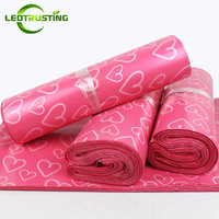 Leotrusting Pink Heart Poly Mailing Express Bag Strong Adhesive Packaging Envelope Bag Mailer Plastic Gift Boxes