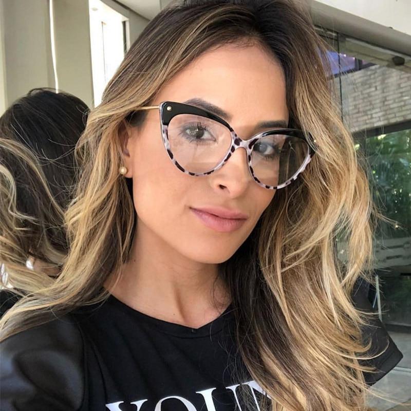 2018 Katze Auge Klar Brille Rahmen Frauen Marke Designer Niet Brillen Klare Linse Gläser Optische Glasse Oculos De Sol Uv400 Die Nieren NäHren Und Rheuma Lindern
