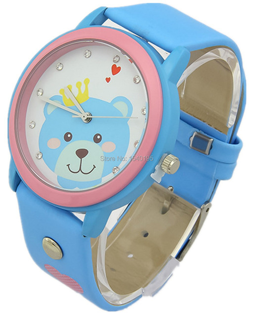 Free shipping Kezzi Kids Boy Girl Watch K832 Quartz Analog Leather  Cartoon Wristwatches Gifts Casual Waterproof