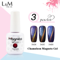 3pcs High Quality  Chameleon Cat Eye Gel Nail Magnetic Gel Lacquer Nail  Varnish 12colors for choose
