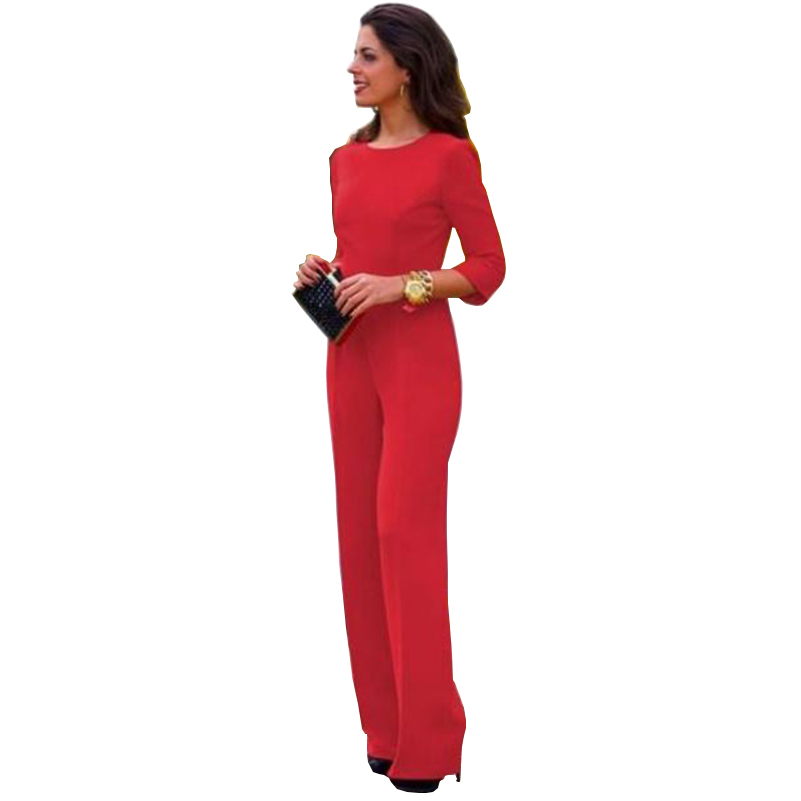 Plus Size Jumpsuits and Rompers for Women Formal Evening Jumpsuits Fashion  Sexy Backless Jumpsuits Solid Long - Compare Prices On Plus Size Evening Pants- Online Shopping/Buy Low