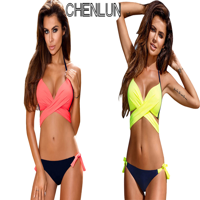 CHENLUN Women's Swimwear Bikini Swimsuit XXL Cross Brazilian Bikini Set