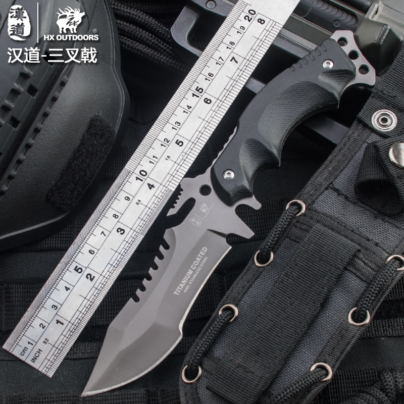 HX OUTDOORS 440C Knife Strike Knives Survival Hunting Knife KNIVES Camping COOL Tools Camp Hunt Pocket Survival nonslip Handle