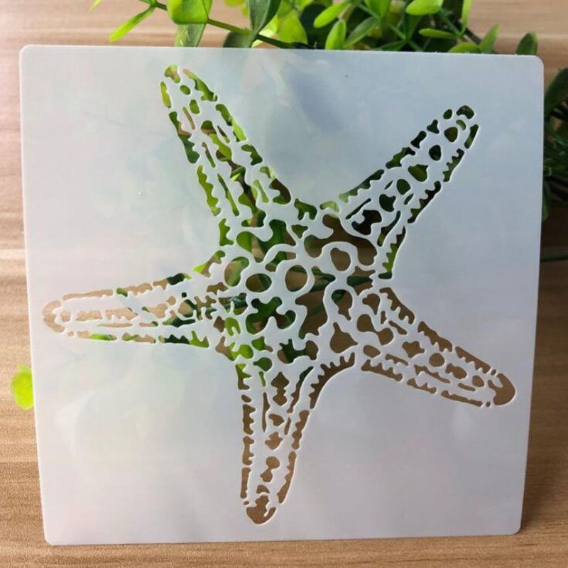 Stencil Starfish Openwork Painting Template Embossing DIY Craft Bullet Journal Accessories Sjablonen For Scrapbooking Reusable