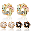 2016 New Adorable Spiral Helix Screw Flower Star Shape Colorful Earring Ear Stud