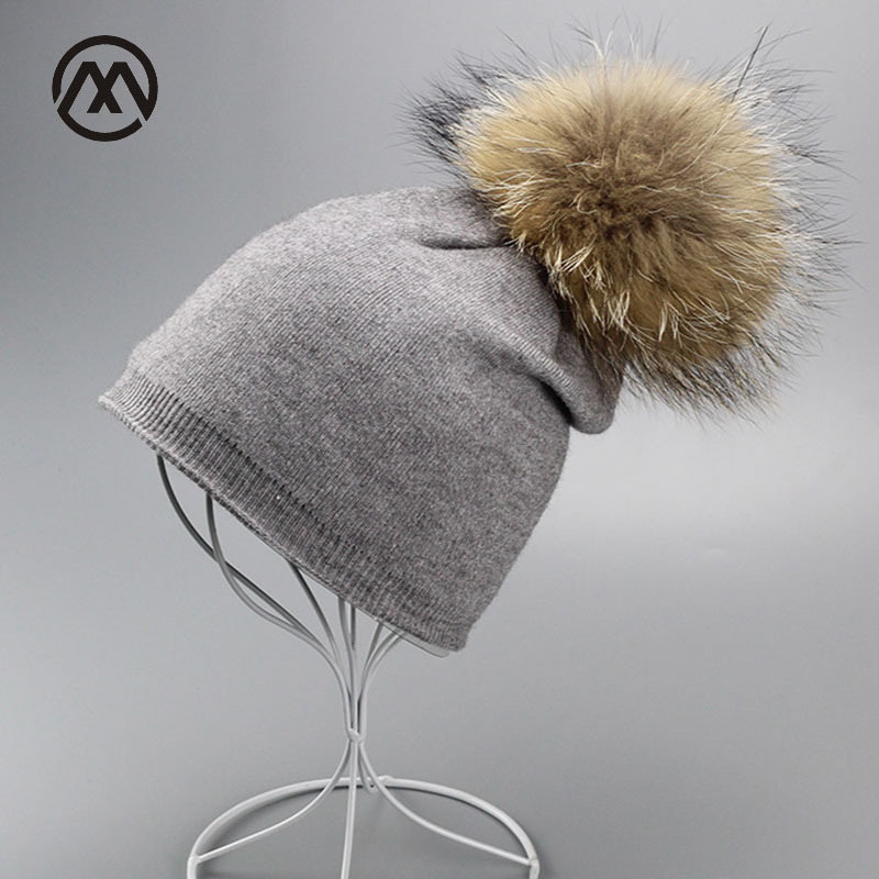 Mink plush ball winter hat for women Keep warm Hats Women's Wear Hats Wool Knitted Hat Girl fashion Cap Female Soft beanies foreign trade explosion models in europe and america in winter knit hat fashion warm mink mink hat lady ear cap dhy 36