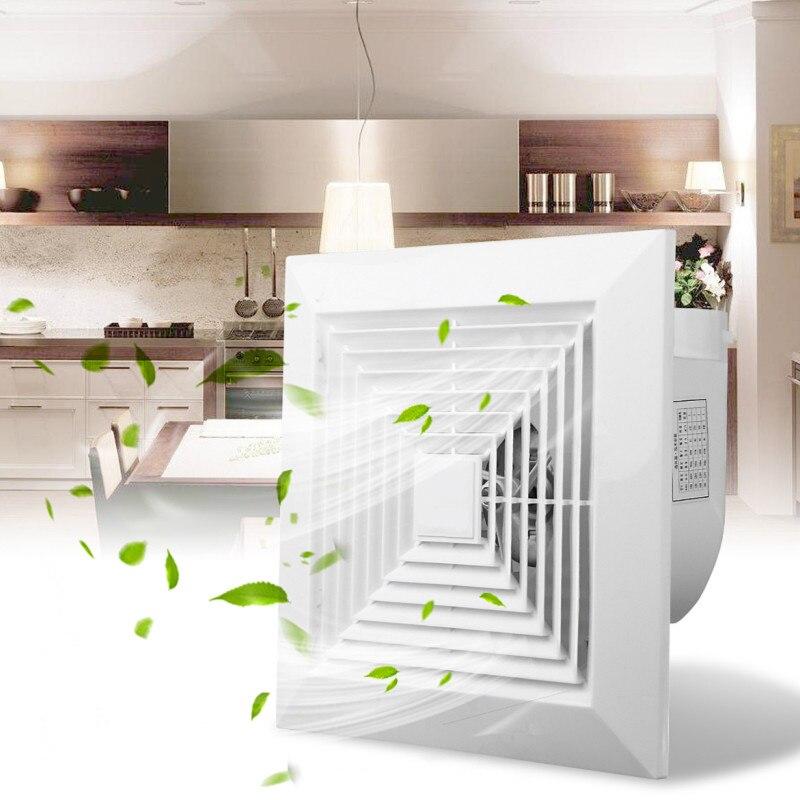 31W 6 Inch 220V Low Noise Window Ceiling Wall Mount Ventilation Exhaust Fan Bathroom Kitchen Blower Home System