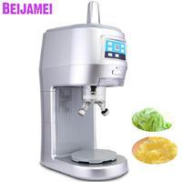 Beijamei 220 В коммерческий Электрический Мягкий мороженое машина непрерывной дробилки льда измельчитель для льда чай с молоком магазин