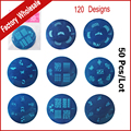 Promotion ! 50pcs Nail Art Polish Stamp Stamping Stainless Steel Image Plates Konad Template Beauty Salon Nail Tools