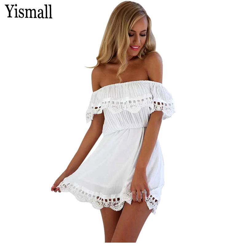 Yismall Summer beach Casual sexy women Black lace party