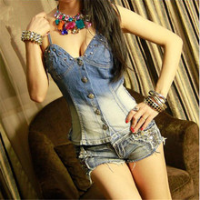 crop top 2017 fashion sexy Camisole Jeans fold rivet Button Waist Thin All-match Bottoming tops harajuku blusa cropped feminino