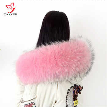 Real Raccoon Fur Collar Womens 100% Natural Fur Gray Collar Real Fur Shawl Raccoon collar Fur Scraves 60/80cm - DISCOUNT ITEM  20% OFF All Category