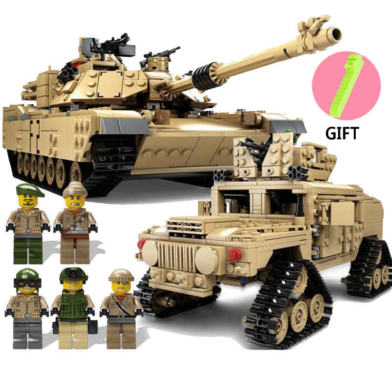 Educational DIY Military Tank Building Blocks Toys Compatible Legos Star Wars Technic Cannon Deformation Tank Toys For Children decool 3114 city creator 3in1 vehicle transporter building block 264pcs diy educational toys for children compatible legoe