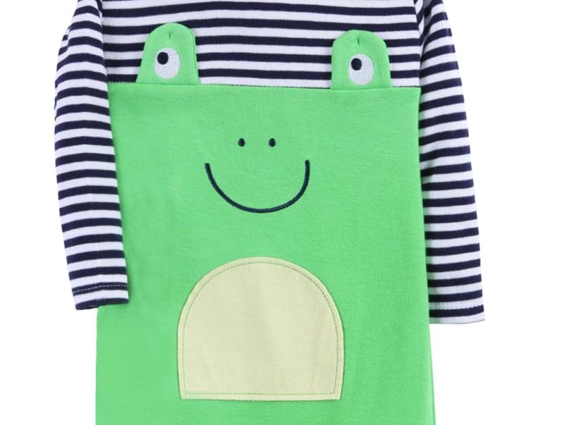 3 stks Baby Rompertjes 100% Katoen Lange Mouwen Dier modellering - Babykleding - Foto 5