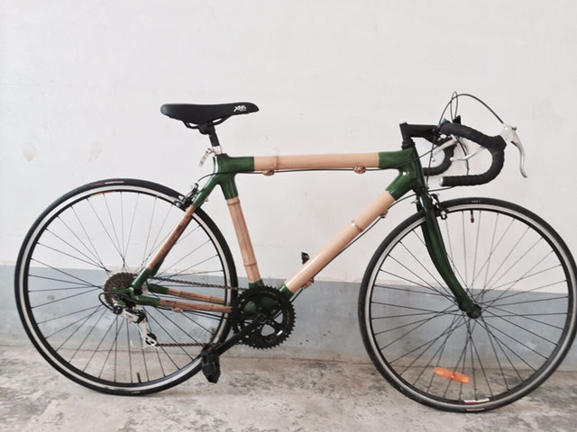 MOQ 1 customized fashion style bamboo bike high quality bamboo ...