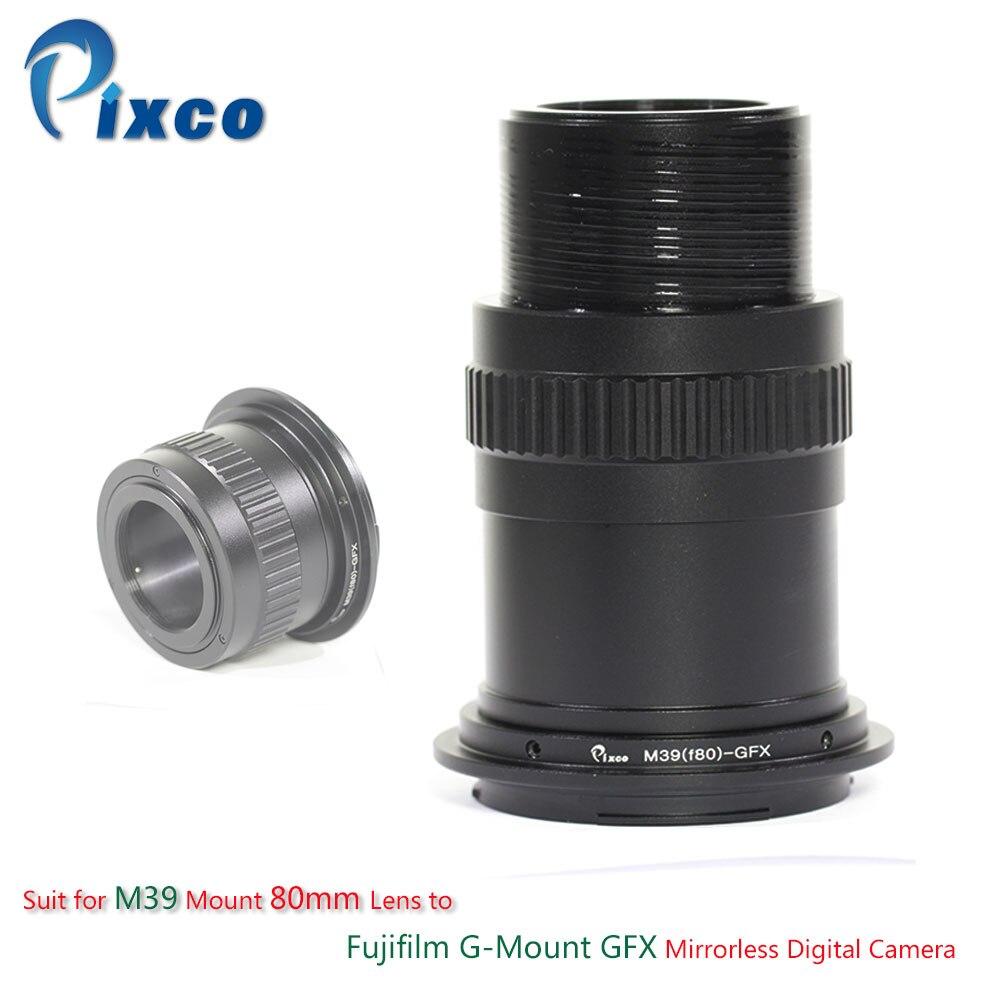 купить Pixco Lens Adapter Suit for M39 Mount 80mm Lens to Fujifilm G-Mount GFX Mirrorless Digital Camera по цене 3698.38 рублей