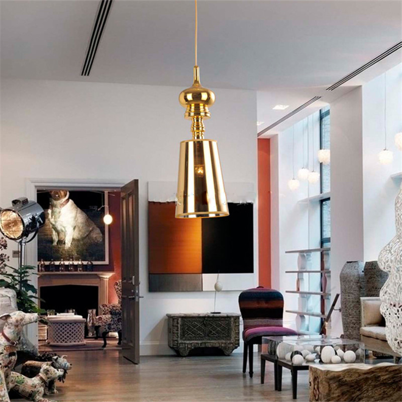 Modern minimalist living room bedroom chandelier chandelier pendant gold silver single head Spanish Restaurant hanging lamps цена и фото
