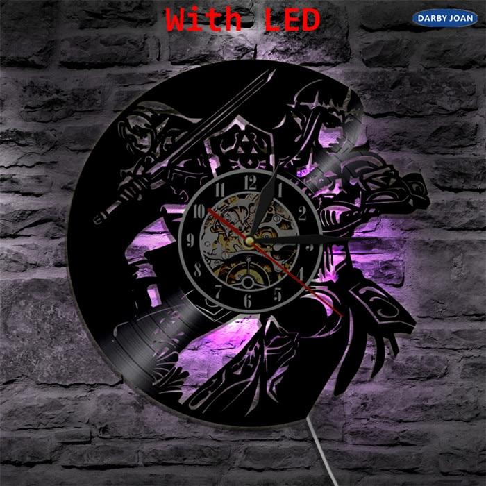 The Legend of Zelda Ocarina Of Time Vinyl Record Wall Clock Kids Best Gift Ideas