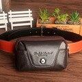 Nuevos Hombres de Cuero Genuino Hip Bum Riñonera Cinturón de Cintura bolsa de Celular/Teléfono Móvil Pitillera Tarjeta Monedero Para El Padre regalo