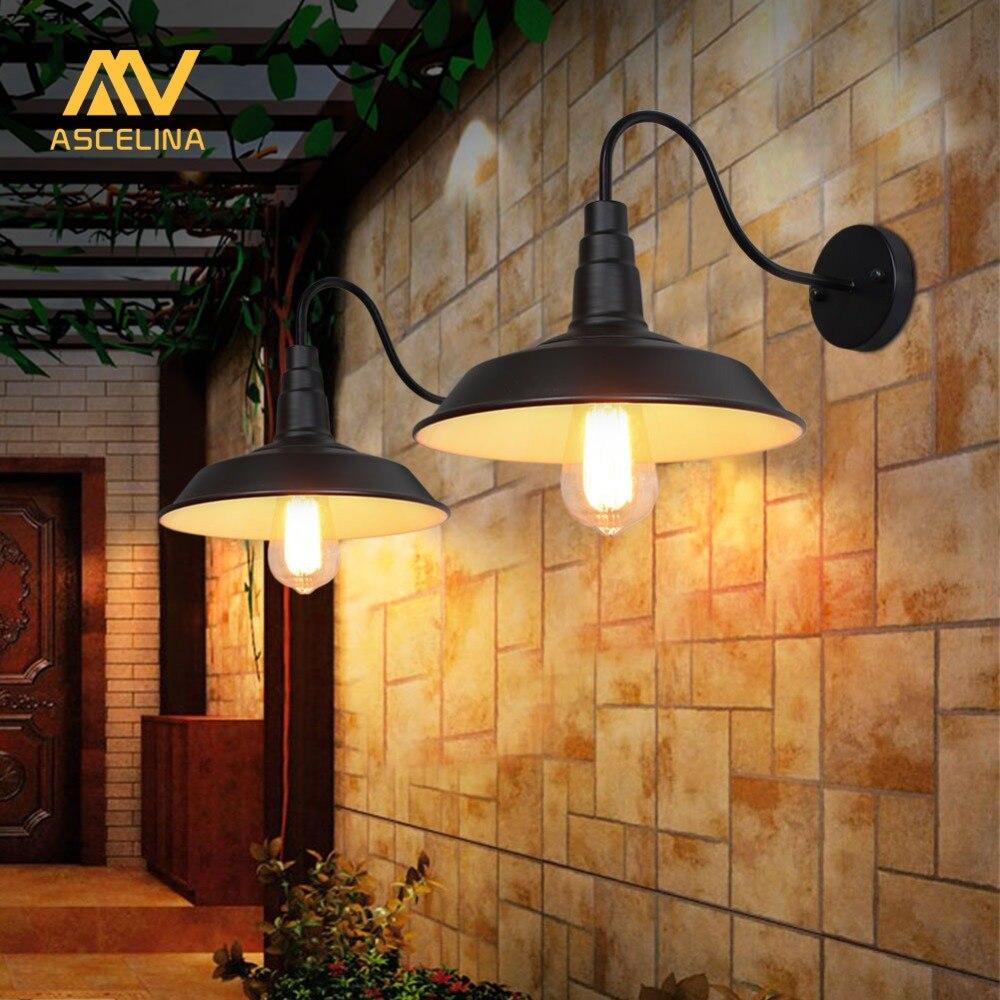 Loft Industrielle Wand Lampe Vintage Wand Licht LED Retro Lampe  Amerikanischen Land Einfachheit Restaurant Wohnzimmer Dekoration Licht