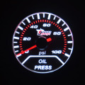 Universal 52mm Smoke White Led backlight Racing Refit meter Car Accessories Analog Scale Oil pressure gauge auto gauge