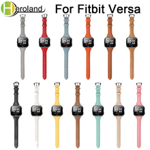 Replacement Leather Watch Band Straps for Fitbit versa Watchband Bracelet Belt Smart wristbands wrist band
