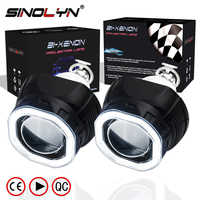 Sinolyn Mini 2 5 Cob Led Angel Eyes Halo Drl Hid Car Projector