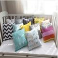 Japão Estilo de Viagem Do Bebê Almofada Jogar Travesseiro Escritório Almofada de Volta Decoração Do Quarto Do Bebê 21*21 cm Design Quadrado